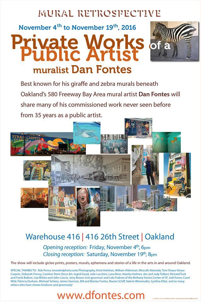 Warehouse 416: Private Works, Public Artist @ Warehouse 416 | Oakland | California | United States