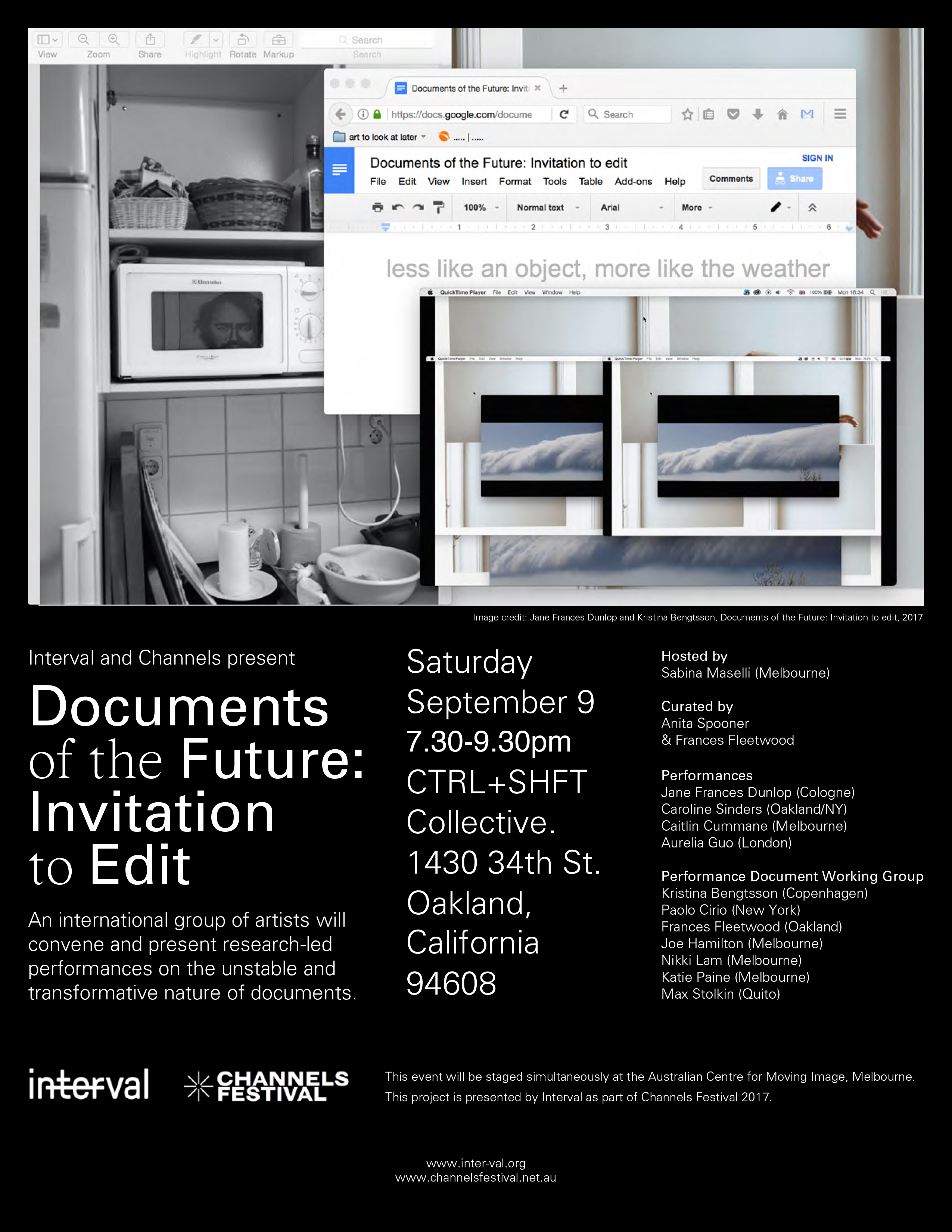 Documents of the Future: Invitation to Edit @ CTRL+SHFT Collective | Oakland | California | United States